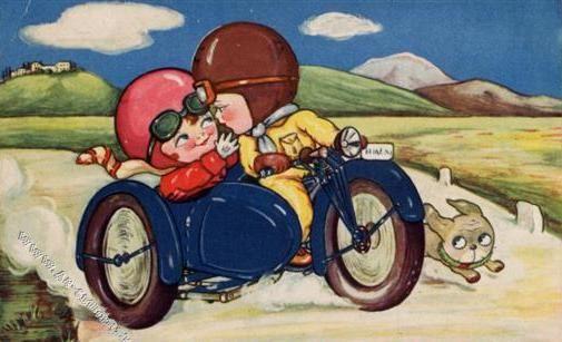 漫画里的幸福-童年的小边车