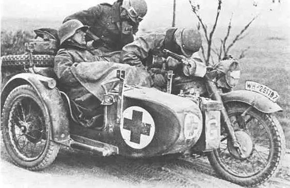 经典老挎 I 德国 BMW R-12 挎斗边车