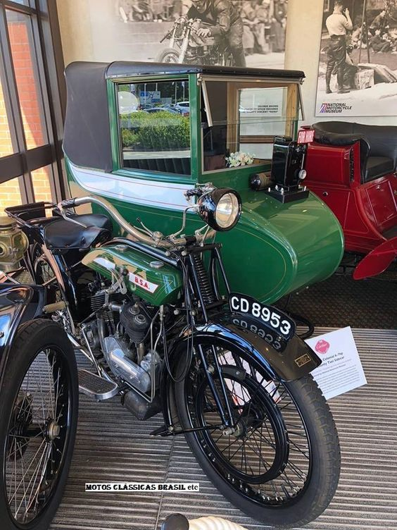 1924 BSA Colonial 6-7hp com County Taxi Sidecar CD8953 (London, GB)